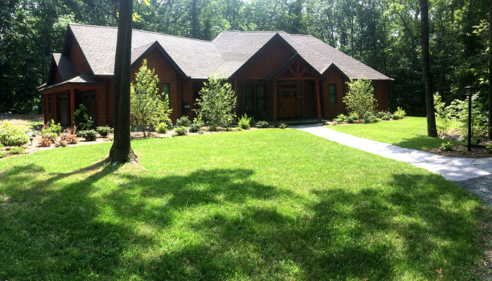 A new home nestled in the woods in Northampton