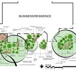 The plan with its rich mix of texture, color of evergreens and deciduous plants