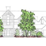 A variety of plant heights working with the architecture of the residence