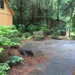 The shade patio to enjoy